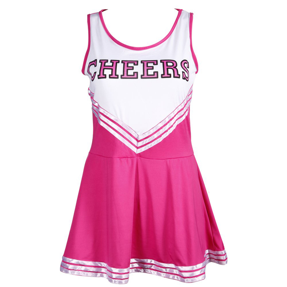 Pom-pom girl tank top dress cheer leader pink suit costume M (34-36) sport