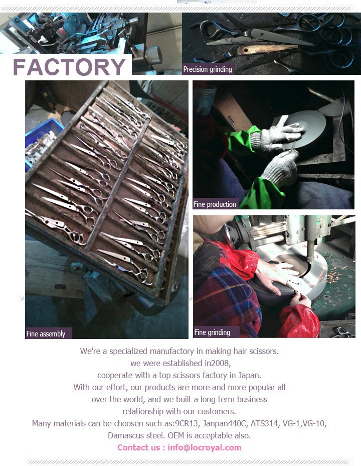 Locroyal hair scissors factory