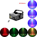 Laser Stage Lighting 48 Patterns Club Red Green Laser BLUE LED Home Party Professional Projector illumination DJ Disco Club