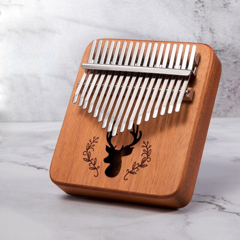 Sc Outdoor 17 Keys Handy Portable Kalimba Cute Mini Kalimba Thumb Piano Instruments For Kids And Lady