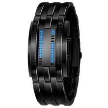 Мужские часы Роскошные нержавеющей стали группы светодиодные цифровые часы Многофункциональный Дата Час браслет спортивные часы Reloj Hombre Relogio