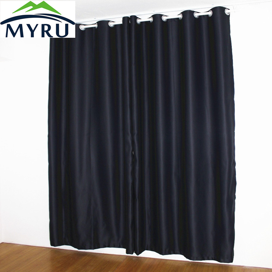 Myru New Black Curtains Full Shade Thermal Insulated