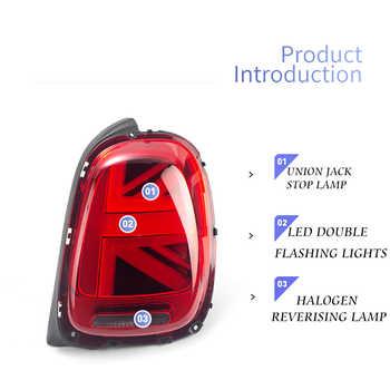 Car Styling for MINI Cooper F55 F56 F57 Tail Lights 2013-now for MINI Rear Light DRL+Turn Signal+Brake+Reverse LED lights
