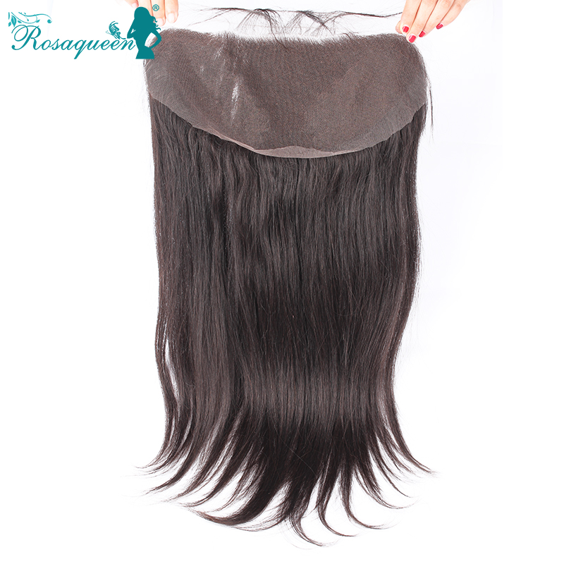 7A 13x6 Lace Frontal Closure Brazilian Virgin Hair Straight Human Hair Lace Front 8 20inch 13X6