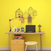 Modern Minimalist Yellow Wallpaper 3D Plain Color Wall Paper Rolls For Walls Living Room Dining Room Bedroom Non Woven Wallpaper