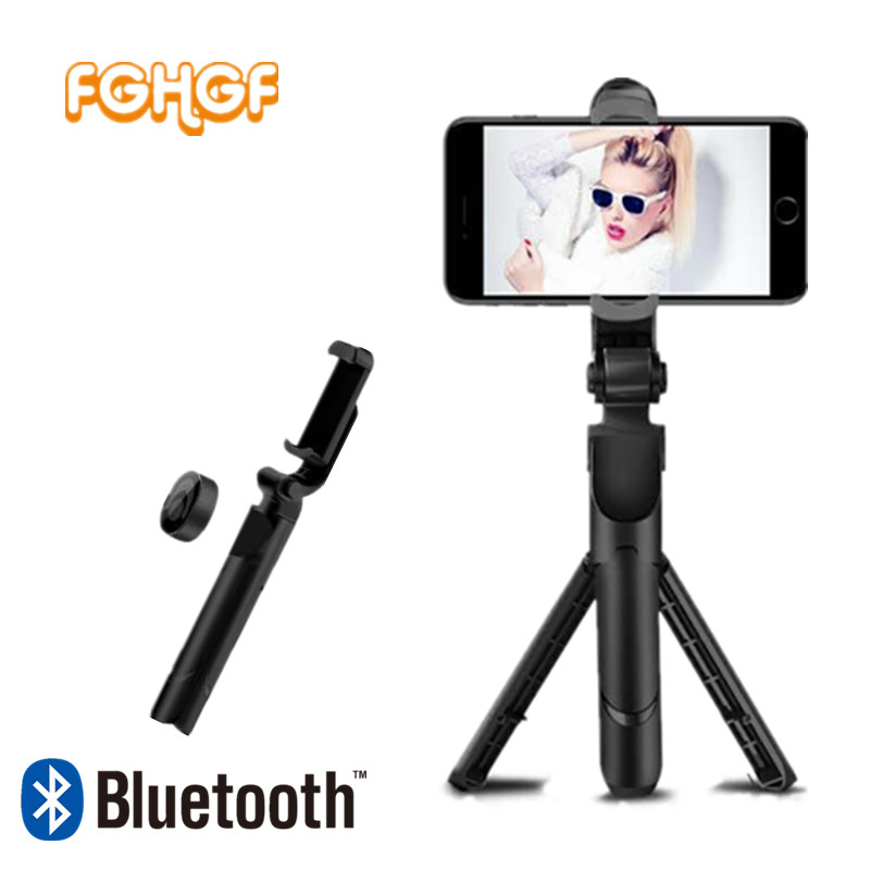 FGHGF Tripod 3 in 1 Selfie Stick Foldable Monopod Phone Selfie Stick Bluetooth Shutter Remote Wireless Handheld Selfie Monopod