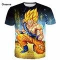 Мужчины Женщины Прохладный Dragon Ball Z Супер Саян 3D майка тис Аниме Злой Гоку Печатает футболки Harajuku Футболки Мультфильм т рубашки