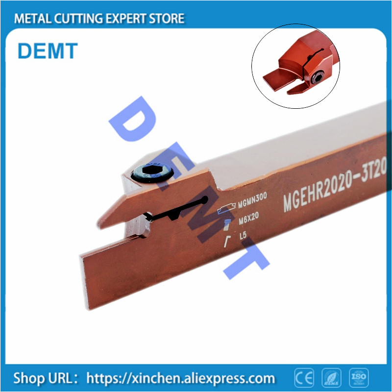 MGEHR1212 MGEHR1616 MGEHR2020 MGEHR2525 - 1.5 2 2.5 3 4 5 Grooving Arbor Tool Holder Boring Bar Cnc Tool External Turning Tool