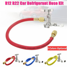Car Auto R12 R22 Can Tap Tapper Air Conditioning Refrigerant Recharge Hose Kit Different Colors