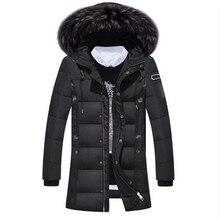 Winter Men Duck Down Long Coat Keep Warm Coat Casual Men's Solid Color Down Overcoat New Arrival Winter Men's Clothing