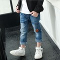 Boy jeans in the big children's clothing baby pants Korean version of the spring and autumn 2017 new boy Casual jeans