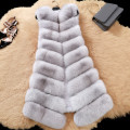 Fur women's full leather fox fur vest fur coat vest long design autumn and winter real fox fur vest