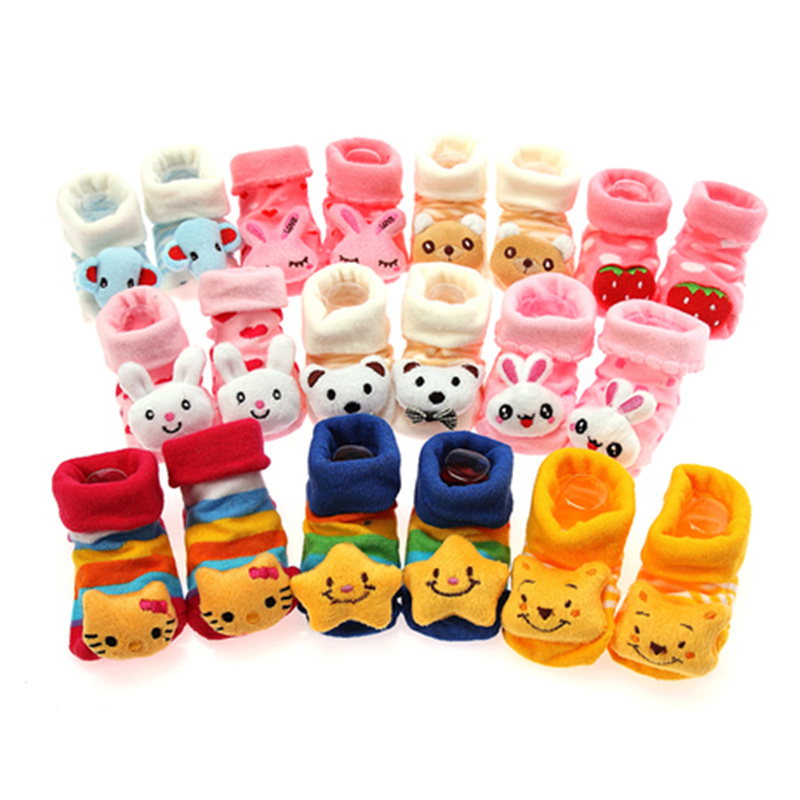 0-12 Months Newborn Cute Baby Girl Boy Unisex Anti-slip Socks Animal Boots infant slip-resistant floor warmsocks