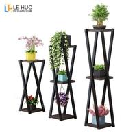 Indoor Floor Standing Plant stand Succulent shelf rack balcony simple wrought iron multi layer indoor flower pot shelf