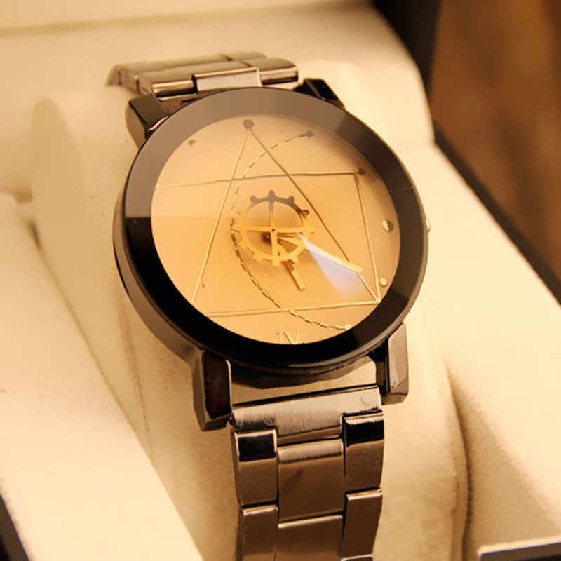 Gofuly 2017 Nieuwe Luxe Horloge Fashion Rvs Horloge Voor Man Quartz Analoog Horloge Orologio Uomo Hot Sales