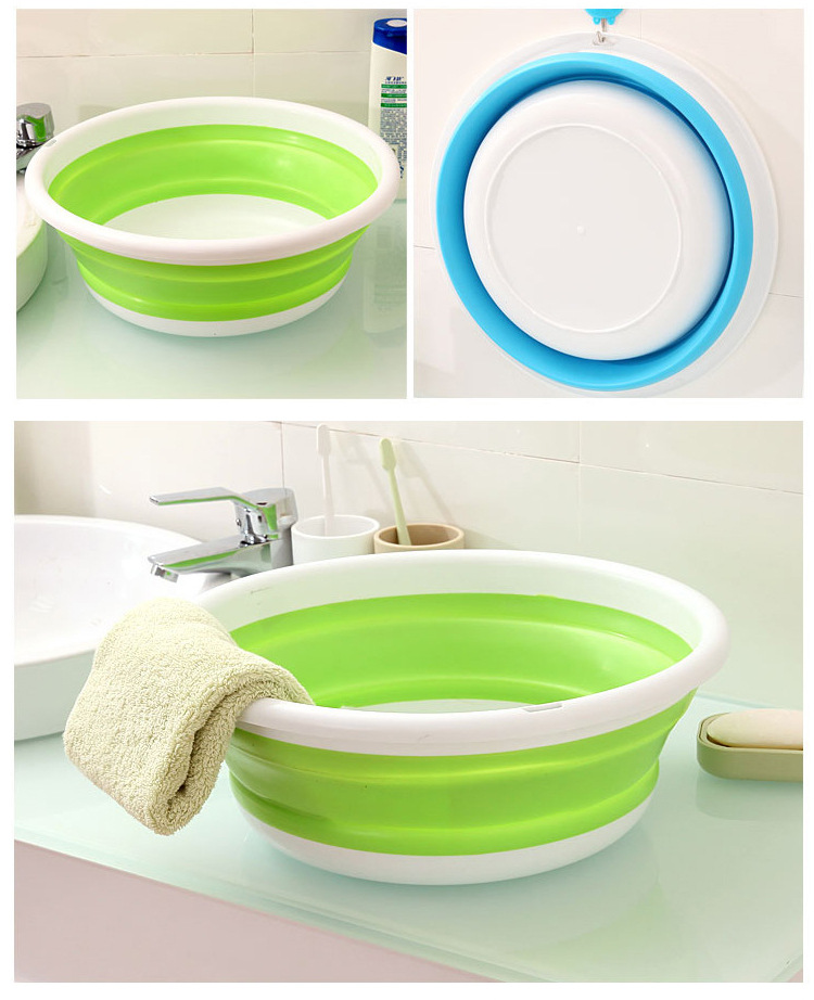 Portable Baby Folding Washbasin S M L Newborn Infant Face Foot Butt Wash Basin Foldable Travel Basin Baby Bath Tub Child Basin