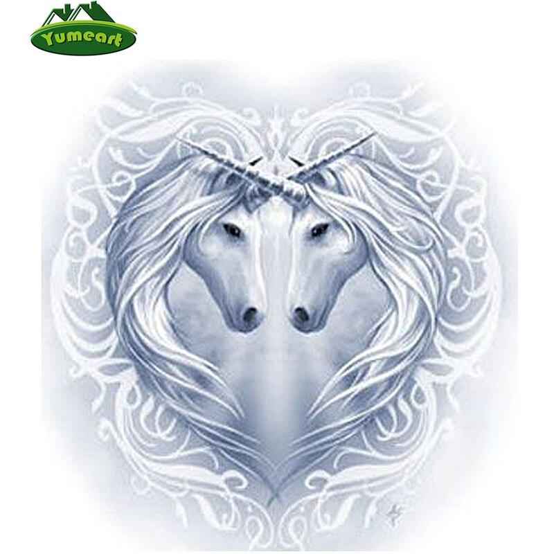 Completo, 5D diamante bordado icono, unicornio Animal diy 5d ...