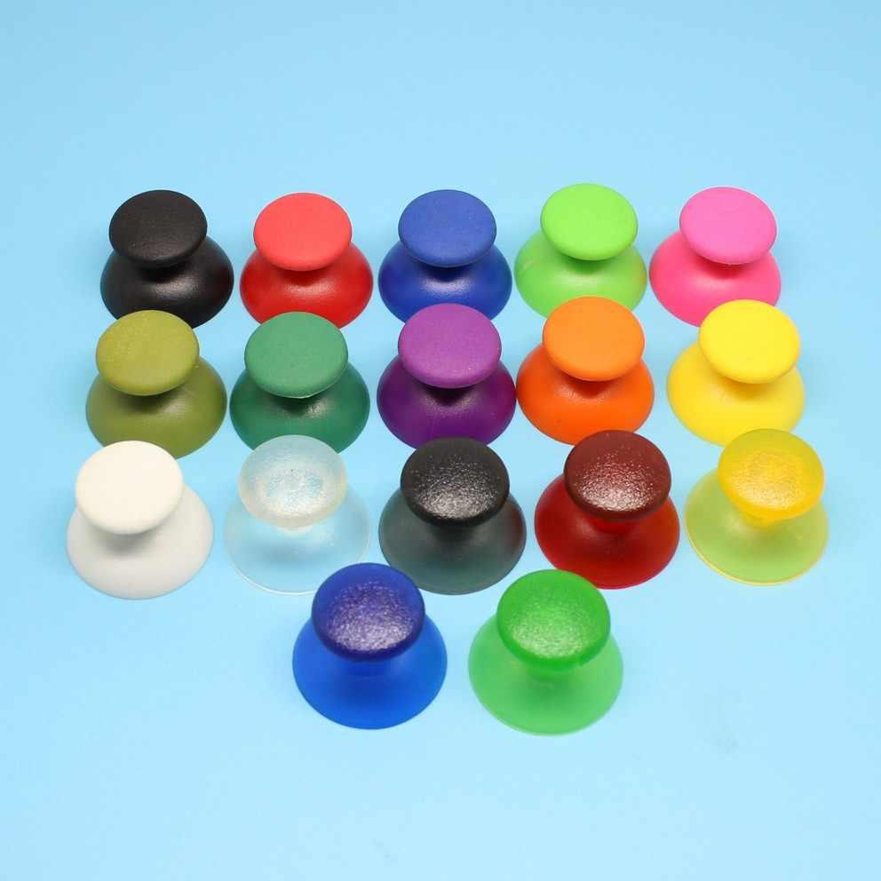 Ps3 컨트롤러에 대 한 2x 다채로운 아날로그 모자 엄지 손가락 그립 캡 ps3 조이스틱에 대 한 블랙 아날로그 그립 컨트롤러 커버 케이스
