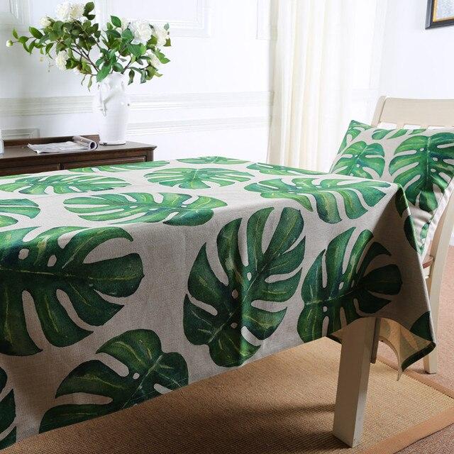 28 53 10 De Reduction Nappe De Jardin Botanique Foret Tropicale Sur Mesure Nappe De Table En Lin Nappe De The Tv Refrigerateur Couverture En