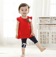 2016 Brand New Baby Girls Clothing Set Kids Girl Clothes Sets Children Summer Cartoon Two Pieces