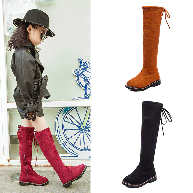 949a9ecc2d90 Gamlon Children Over Knee Boots Girl Shoes Knee Fashion Children Boots 2018  Autumn And Winter Princess Girls Students Mama Shoes