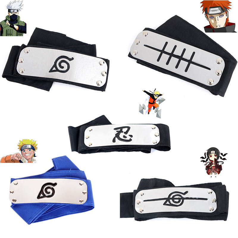 Anime Naruto Cosplay Headwear Cotton Alloy Cosplay Headband Hobby Gift Kids Adults Cos Prop Sasuke Uchiha Itachi Dropshipping