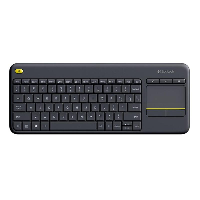 Logitech K400 Plus clavier tactile sans fil avec pavé tactile écran tactile pour ordinateur portable technologie Uniflying pour ordinateur portable Android Smart TV HTPC