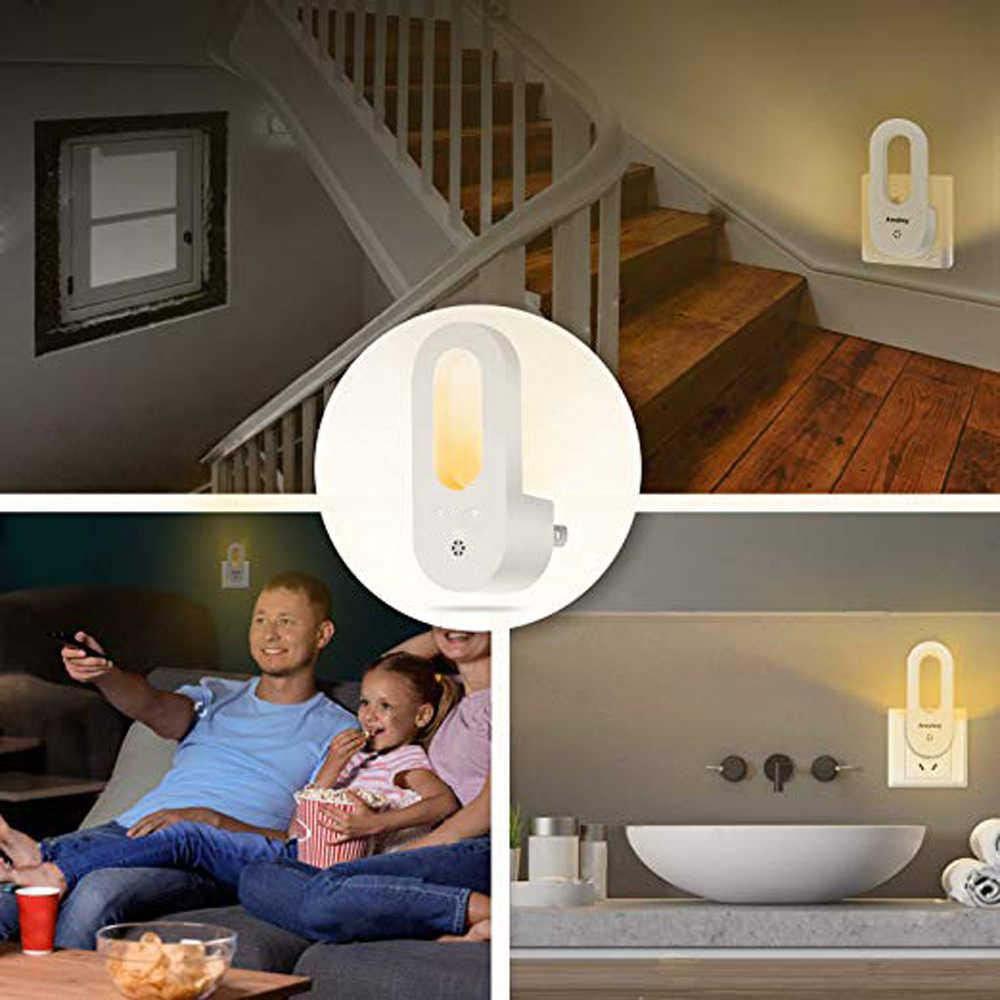 Wtyczka LED w świetle nocnym ciepłe białe kinkiety czujnik światła zmierzchowego do świtu dla dzieci dzieci pokój dziecięcy szkółki schody korytarz