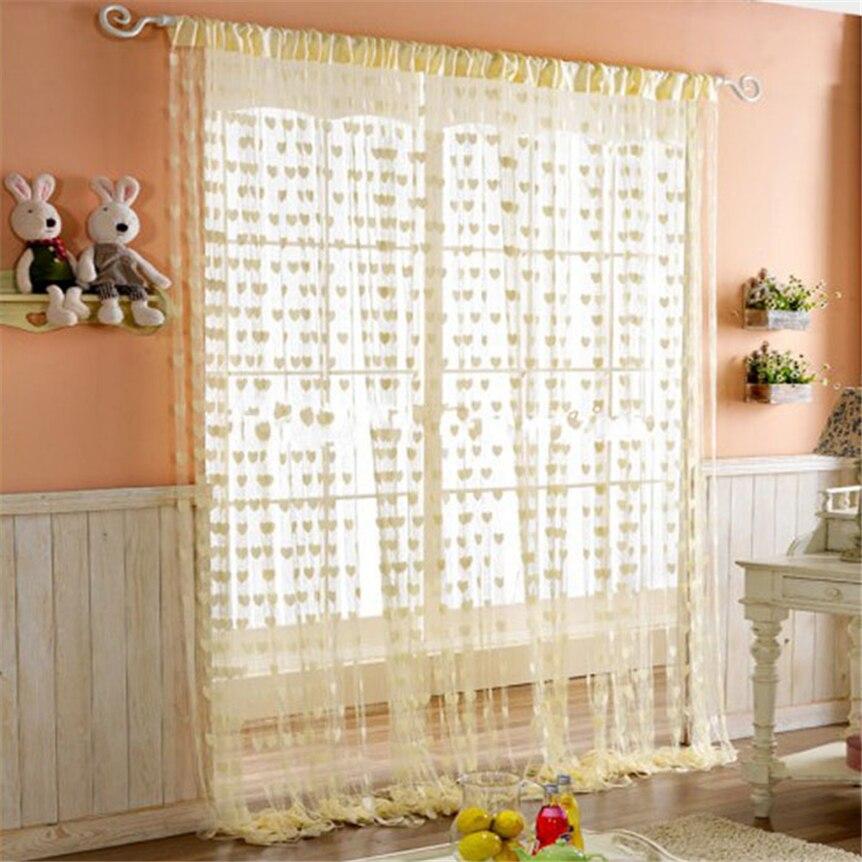 Home Wider Cute Heart Line Tassel String Door Curtain Window Room Divider Curtain 200X100CM oct105 Drop Shipping