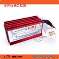 Red 5 Pin Racing AC CDI For 50cc 110cc 125cc 140cc 150cc 160cc SSR Thumpstar Pit Dirt Bikes
