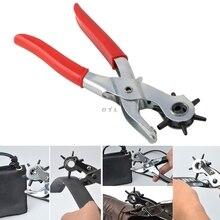 Heavy Duty Revolving 6 Hole Leather Belt Paper Eyelet Cut Plier Punch Craft Tool
