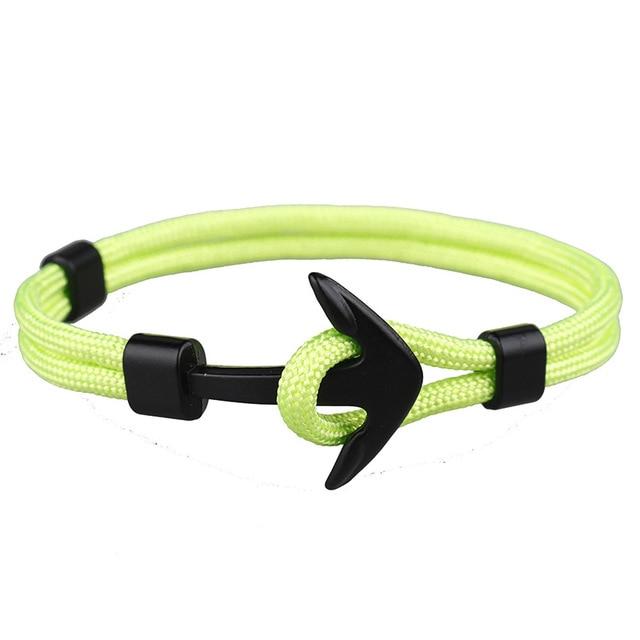 Bracelet Ancre couple vert