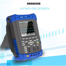 цена на Hantek Oscilloscope DSO8202E Oscilloscope Digital Multimeter 200MHz 1GSa/S 5.6 inch TFT Color LCD Display Handheld Oscilloscope
