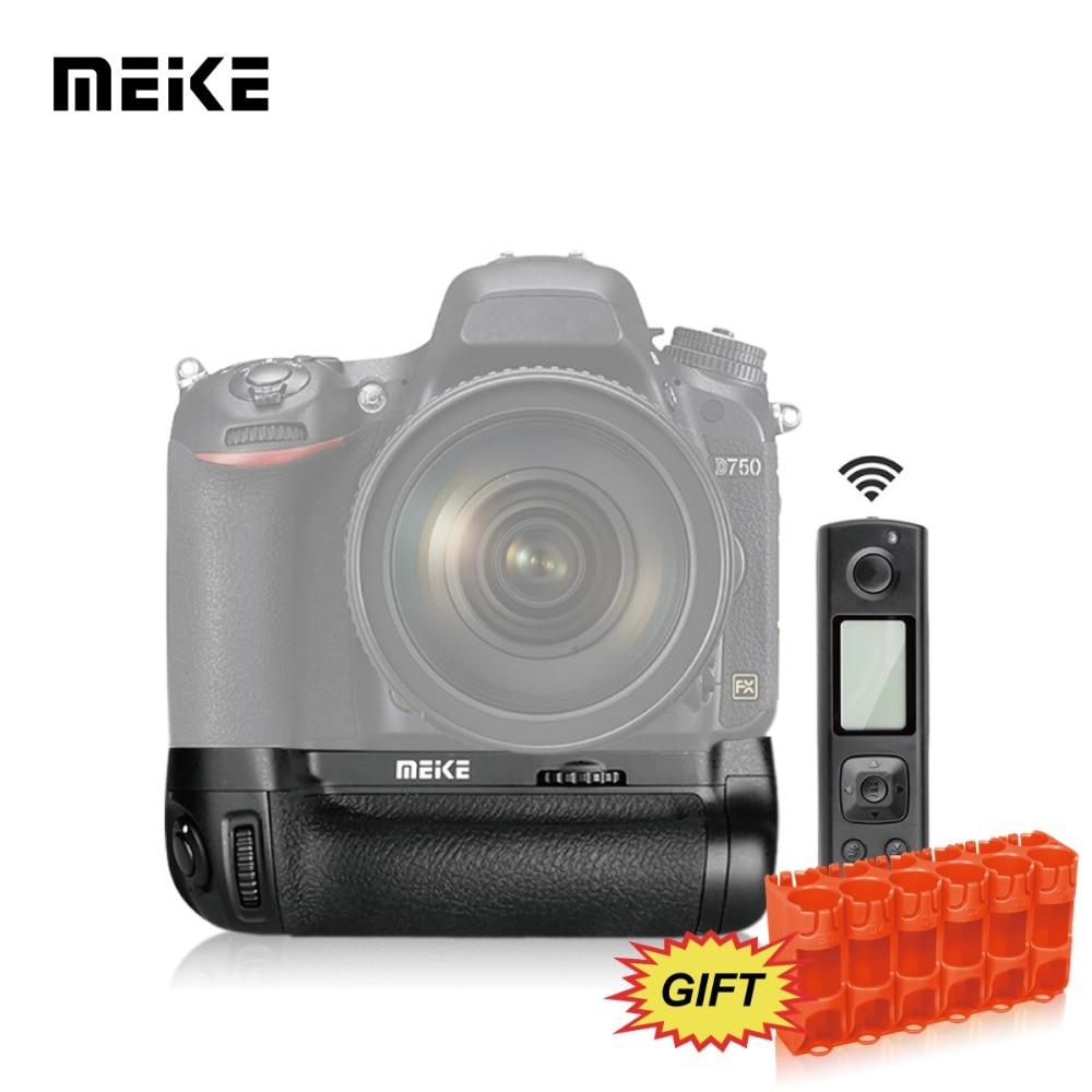Nikon D750 üçün Simsiz Uzaqdan İdarəetmə MEKE Meike MK-DR750 Çox Güclü Batareya Qutusu Paketi