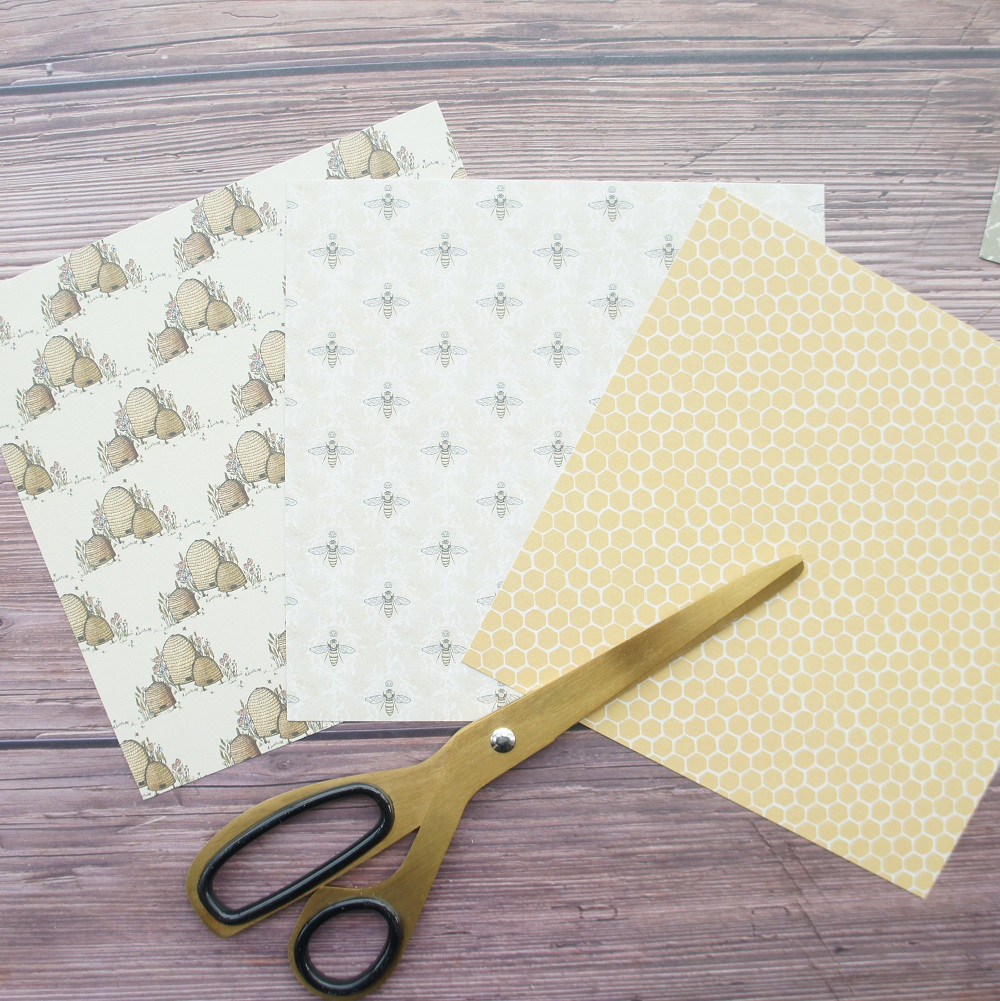 20sheets DIY 10 style 15 2 15 2cm bee and their Field theme craft paper as scrapbooking creative paper handmade gift use in Craft Paper from Home Garden