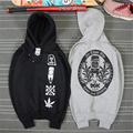 Hot Sale Autumn & Winter fleece hoodies Men Hip-hop pullover Long Sleeves Sweatshirt Skateboard brand men clothing TC538
