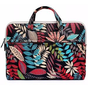 Image 2 - Laptop Bag 13 14 15.6 inch Case Notebook Bag For Macbook Air Pro 15.4 Laptop Shoulder Bag Floral Portable for Xiaomi Notebook