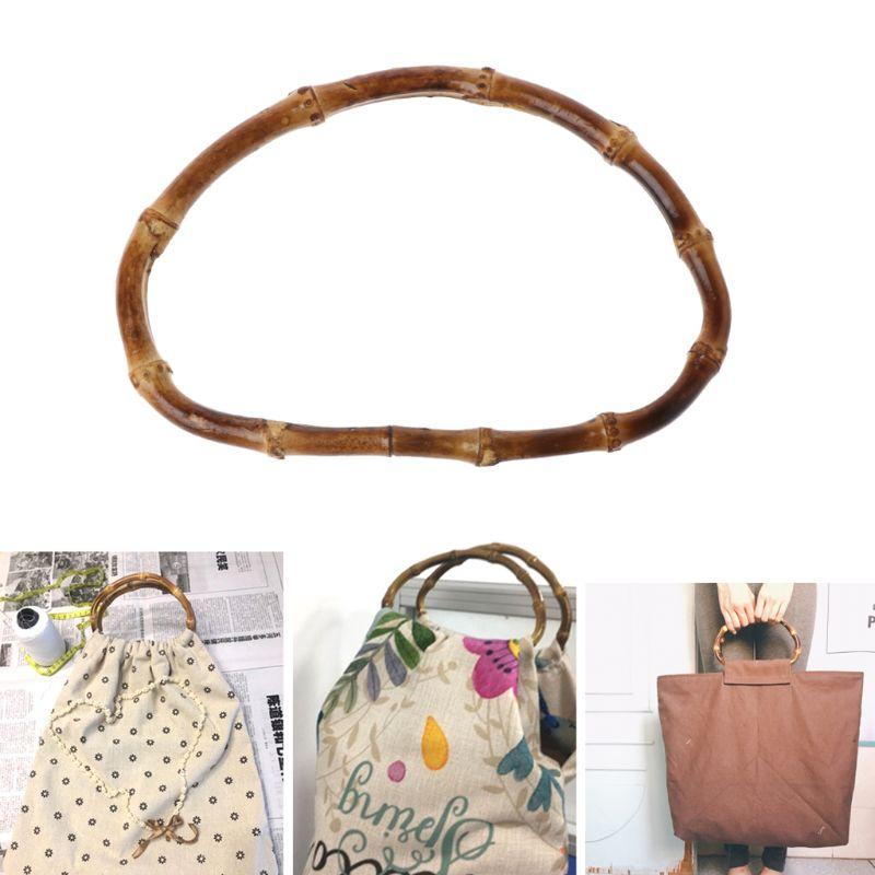 1 x D Shape Bag Frame 15cm Bamboo Purse Hanger Handcrafted Handbag DIY Bags Accessories