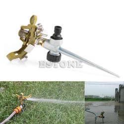 Новые металлические импульс всплеск воды полива дождеванием опрыскиватель для лужайки Сад Дворе трава