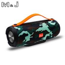 M & J altoparlante Bluetooth suono stereo portatile wireless sistema di grande potenza 10W MP3 musica audio AUX con microfono per android iphone