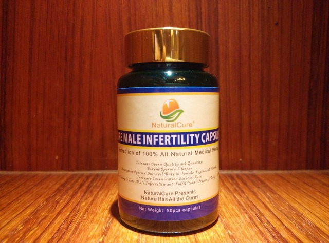 NaturalCure Cure Male Infertility Caps-ules, Increase Sperm Quantity and Quality, Cure Low Sperm Count Disease, Make You Father