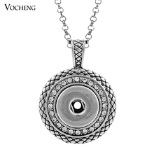 10PCS/Lot 18mm Vocheng Interchangeable Jewelry Snap Charms Pendants Necklace with Stainless Steel Chain NN 032*10necklace withnecklace free shippingpendant necklace