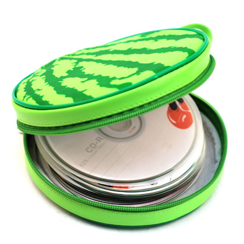 Lovely Storage Holder Watermelon Organizer Disk Carry Case Bag Hold 24 Pcs Disk Portable CD DVD Wallet @LS MY1218