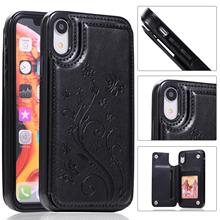 Чехол-бумажник из искусственной кожи с цветочным узором для карт iPhone X XS MAX XR 6 6S 7 8 Plus, чехлы для телефонов samsung S10E S10 S9 S8 Plus