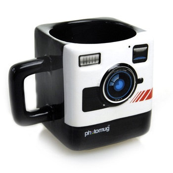 Creative camera ceramic cup British Mustard Photo Mug Polaroid camera style coffee cup Milk lens cup Novelty gifts