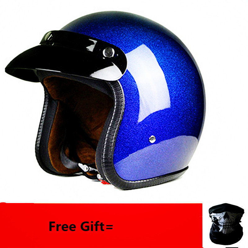 HOT Sell Motorcycle Helmet Chopper Retro Casco With Mask Gift  Vintage Open Face Old School Casque Moto Cacapete DOT Certificate