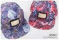 5 pcs frete grátis / 2016-A267 High end logo metal as flores borda plana snapback cap hip-hop homens mulheres chapéu de basebol