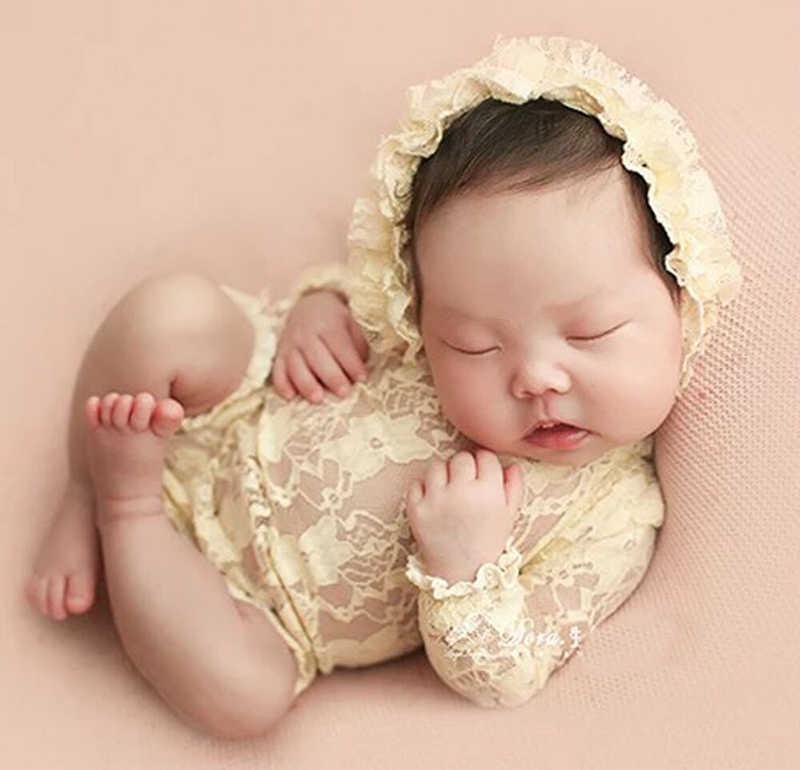 Детский комбинезон для новорожденных Костюм для фотосессии кружевной комбинезон + шляпа детский чепчик детская одежда с длинным рукавом христианское распятье детские комбинезоны
