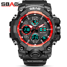 SBAO Sport Watches for Men Brand Luxury Dual Display Analog LED Digital Men's Quartz Wrist Watch Waterproof Military Watch Men weide luxury brand analog digital alarm stopwatch black red dual men sport watch quartz wrist watch military men clock relogio