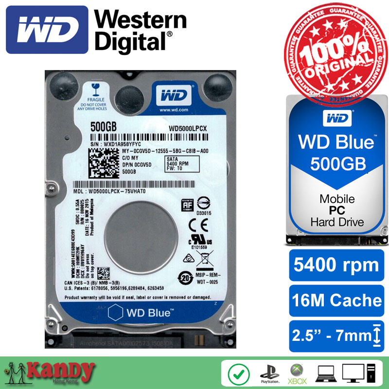 Western Digital WD Blue 500GB hdd 2 5 SATA disco duro laptop internal sabit hard disk